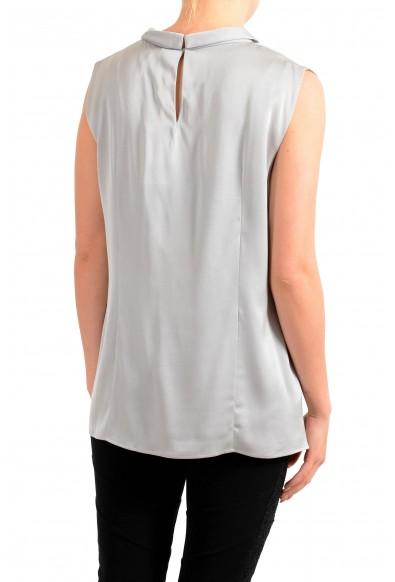 "Hugo Boss Women's ""Lyabo"" Gray Silk Sleeveless Blouse Top: Picture 2"