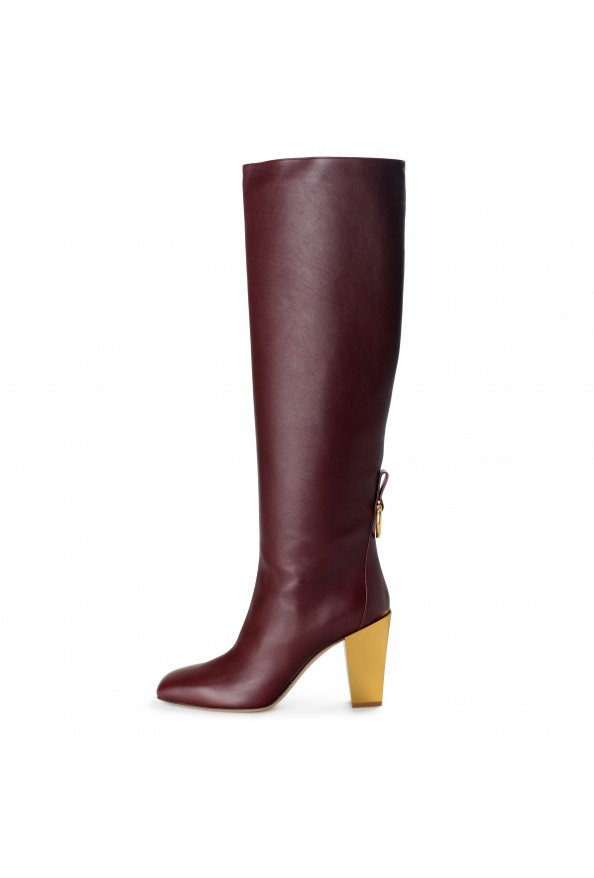 "Salvatore Ferragamo Women's ""BLAVY"" Leather High Heel Boots Shoes: Picture 6"
