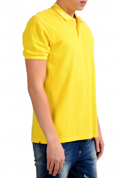 Malo Men's Yellow Short Sleeve Polo Shirt: Picture 2