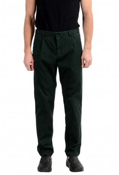 "Hugo Boss ""Sleat"" Men's Green Stretch Casual Pants"