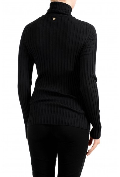 Versace Women's Black 100% Wool Stretch Turtleneck Pullover Sweater : Picture 2