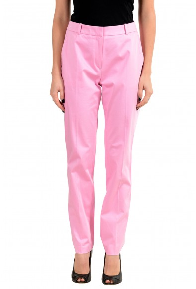 "Hugo Boss ""Herila"" Women's Pink Stretch Casual Pants"