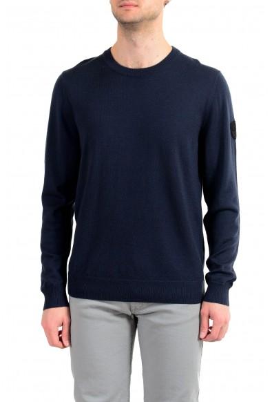 "Emporio Armani EA7 ""Ski"" Men's 100% Wool Dark Blue Crewneck Sweater"