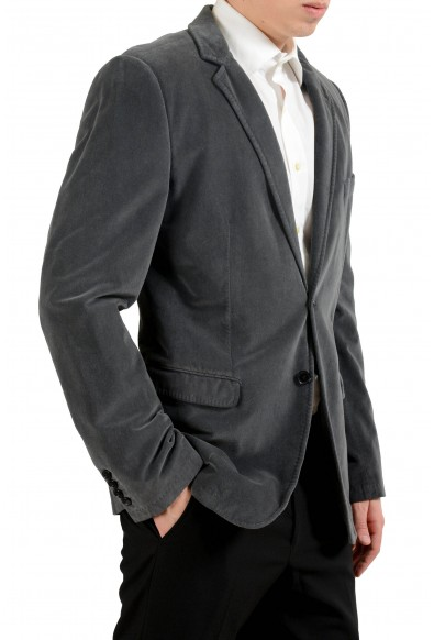 Dolce & Gabbana Men's Gray Velour Two Button Blazer Sport Coat: Picture 2