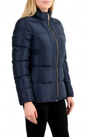 Versace Collection Women's Navy Blue Down Full Zip Parka Jacket: Picture 2