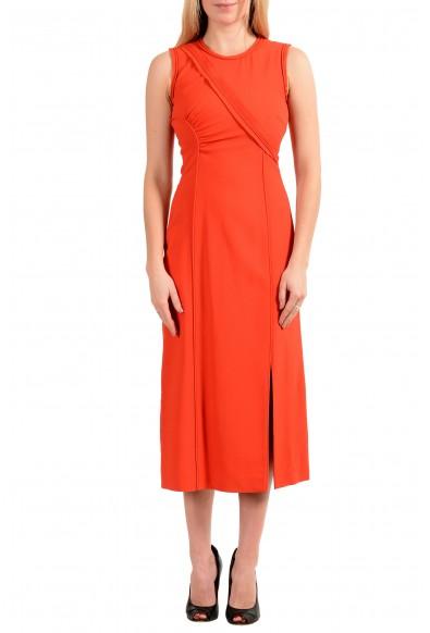 "Hugo Boss Women's ""FS_Dymeani_C"" Silk Orange Sleeveless Sheath Dress"