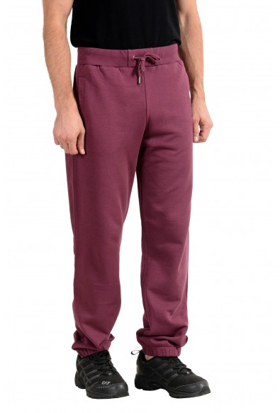 Versace Jeans Men's Burgundy Track Sweat Pants: Picture 2