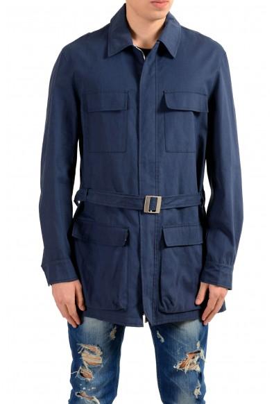 Malo Navy Full Zip Men's Basic Coat