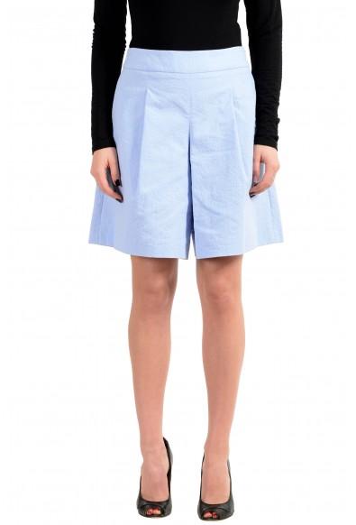 """Hugo Boss Women's """"Tylena"""" Blue Pleated Shorts"""
