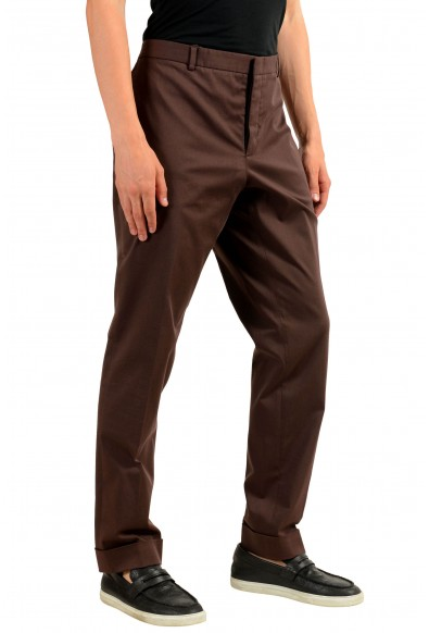 Gucci Men's Brown Stretch Casual Pants: Picture 2