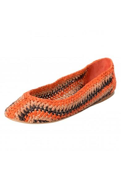 Prada Women's Multi-Color Canvas Ballet Flats Shoes: Picture 2