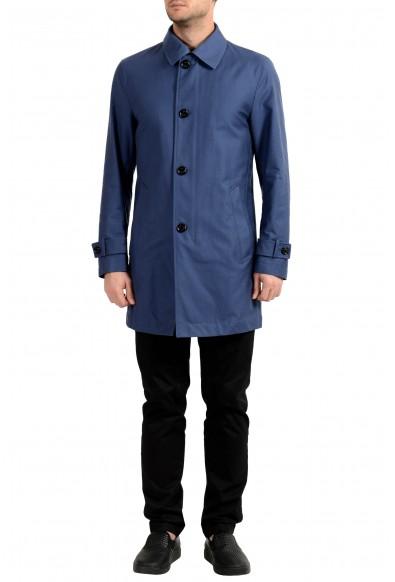 """Hugo Boss Men's """"Dain"""" Blue Trench Coat"""
