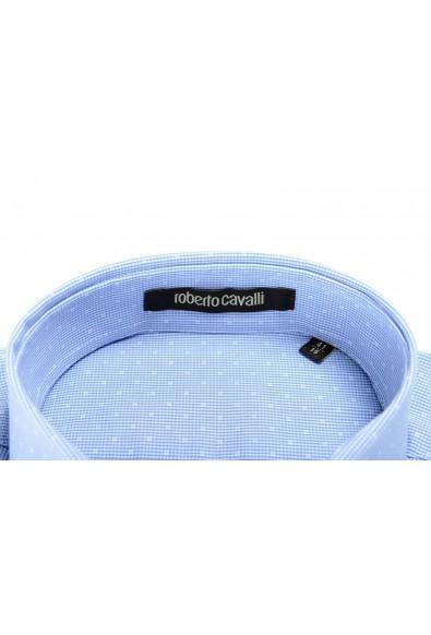 Roberto Cavalli Men's Bluish Slim Long Sleeve Dress Shirt: Picture 2