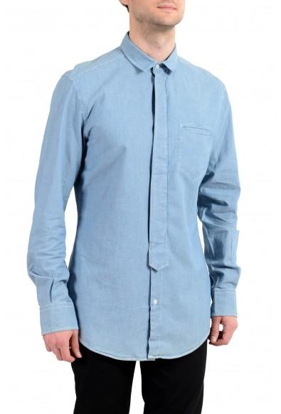"""Dolce&Gabbana D&G """"Brad"""" Men's Blue Long Sleeve Dress Shirt"""