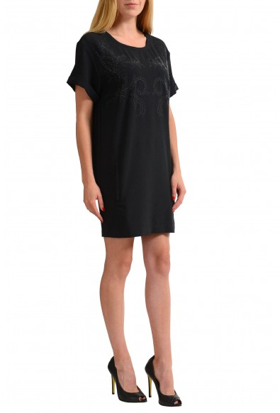 Versace Jeans Black Beads Decorated Women's Shift Dress: Picture 2