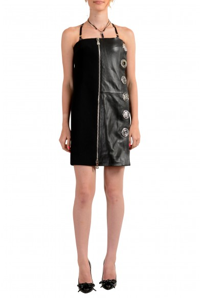 Versus by Versace Women's Leather Embellished Strapless Mini Dress