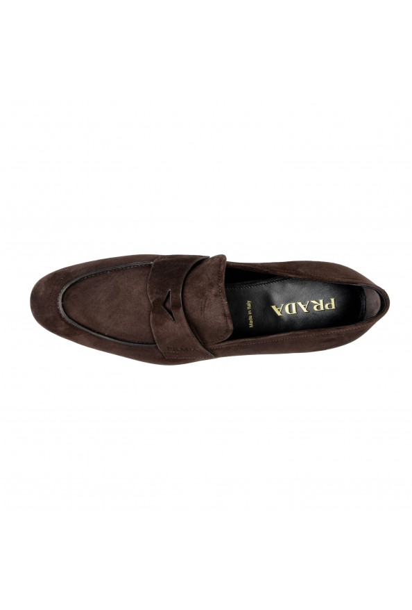 """Prada Men's """"2DB185"""" Brown Suede Leather Loafers Slip On Shoes: Picture 6"""