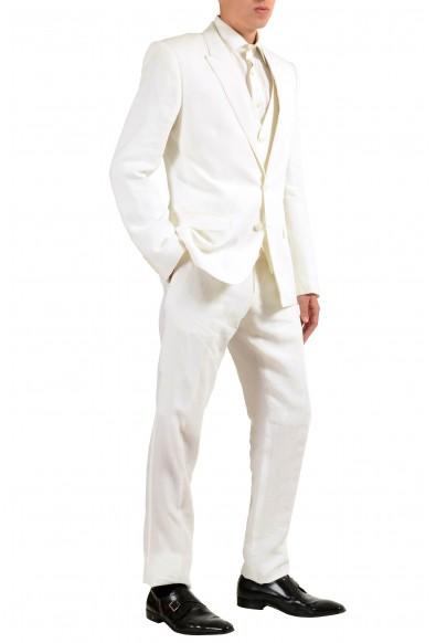 "Dolce & Gabbana ""Martini"" Men's 100% Linen White Two Button Three Piece Suit: Picture 2"