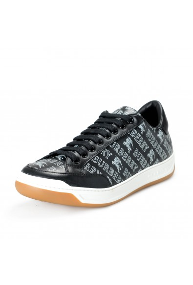"""Burberry Men's """"TIMSBURY""""Black Leather Fashion Sneakers Shoes"""