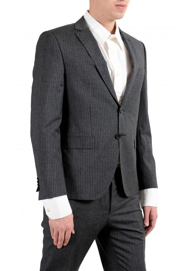 """Hugo Boss """"Reymond/Wented"""" Men's Silk Wool Striped Gray Slim Two Button Suit: Picture 8"""