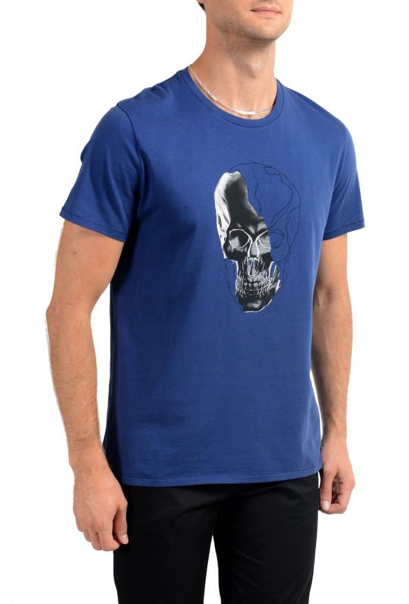 Just Cavalli Men's Blue Graphic Print Crewneck T-Shirt: Picture 2