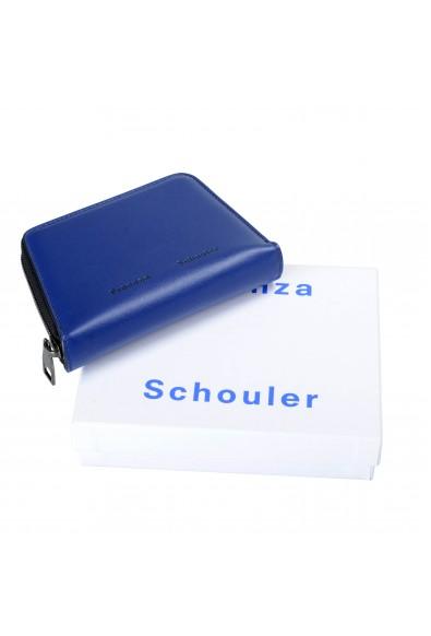 Proenza Schouler Women's Royal Blue 100% Leather Trapeze Zip Wallet