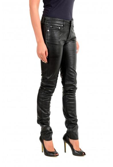 Saint Laurent Women's Black Coated Jeans: Picture 2