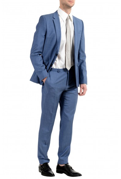 """Hugo Boss """"Astian/Hets182"""" Men's 100% Wool Extra Slim Blue Two Button Suit: Picture 2"""