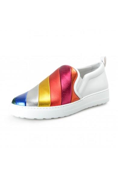 "Salvatore Ferragamo Women's ""BALZE"" Leather Slip On Loafers Shoes"