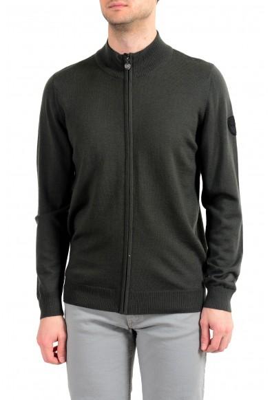 "Emporio Armani EA7 ""Ski"" Men's 100% Wool Green Full Zip Sweater"