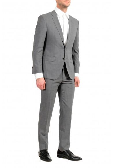 "Hugo Boss ""Huge6/Genius5"" Men's 100% Wool Plaid Slim Gray Two Button Suit: Picture 2"