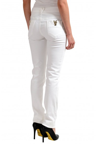 Versace Jeans White Women's Straight Leg Jeans: Picture 2