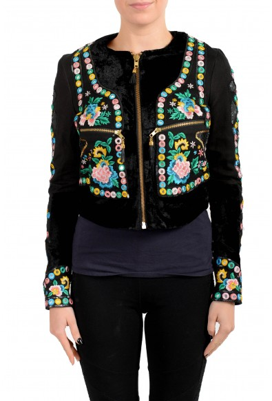 Just Cavalli Women's Multi-Color Embellished Embroidered Jacket
