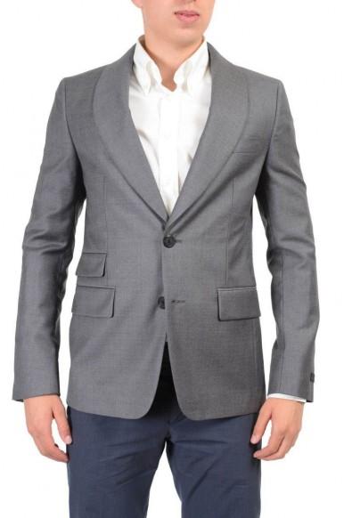 Prada 100% Wool Gray Two Buttons Men's Blazer