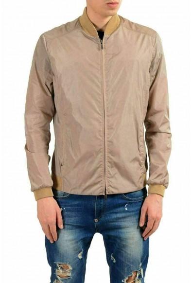 Malo Men's Beige Full Zip Bomber Windbreaker Jacket