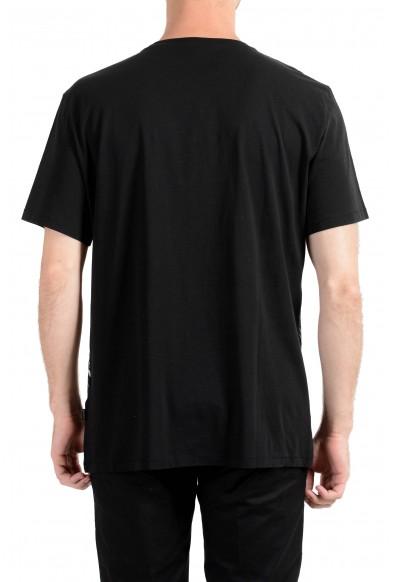 Just Cavalli Men's Black Graphic Crewneck T-Shirt : Picture 2