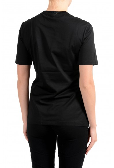 Versace Women's Black 90'S Vintage Logo Embroidered Top T-Shirt: Picture 2
