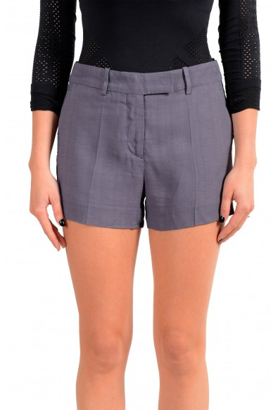 Maison Margiela Women's Purplish Gray Mini Shorts