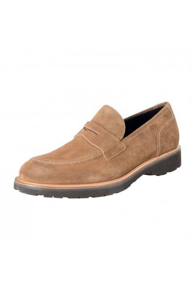 "Salvatore Ferragamo ""Fazio"" Men's Suede Leather Beige Loafers Slip On Shoes"