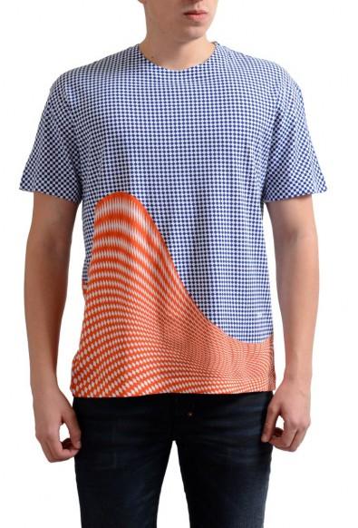 Prada Men's Multi-Color Graphic Print Crewneck T-Shirt