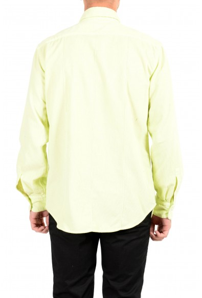 Malo Men's Lime Green Corduroy Long Sleeve Casual Shirt : Picture 2