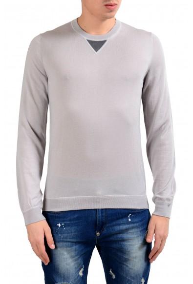 Malo 100% Cashmere Men's Light Pullover Gray Crewneck Sweater