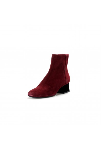 Marni Women's Plum Purple Suede Leather Heeled Ankle Boots Shoes