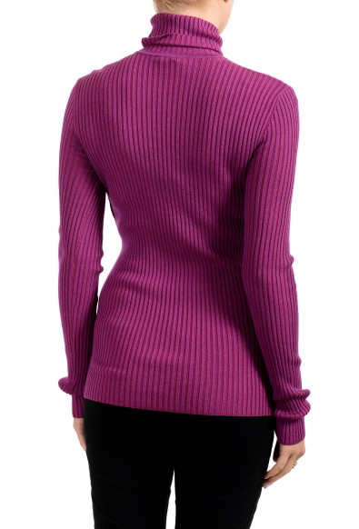 Versace Collection Women's Purple Turtleneck Sweater: Picture 2