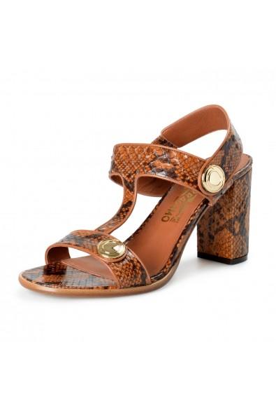 Salvatore Ferragamo Women's Edict P Python Skin High Heel Sandals Shoes