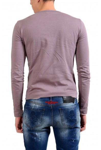 Dolce & Gabbana Men's Crewneck Purple Long Sleeve Reversible T-Shirt: Picture 2