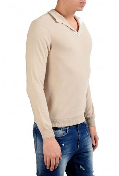 Malo Men's Bone White Pullover Sweater: Picture 2