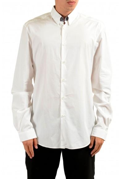 Versace Men's White Long Sleeve Dress Shirt
