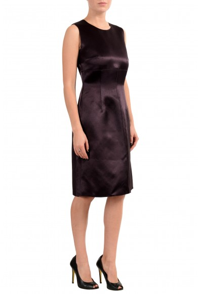 "Hugo Boss ""Dula"" Women's Dark Brown Sleeveless Sheath Dress : Picture 2"