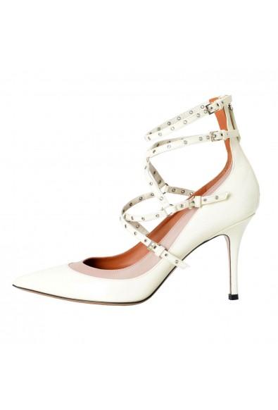 Valentino Garavani Women's Off White Ankle Strap Pumps Shoes: Picture 2